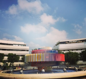 Colourful fountain and Bauhaus buildings - the essence of Tel-Aviv